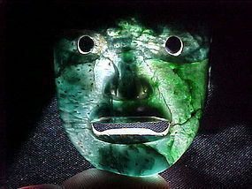 Olmec Jade Maskette 3 COAs