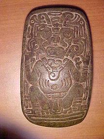 Chavin Carved Tablet w/vid 2 COAs