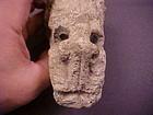 Teotihucan Limestone Cement Quetzalcoatl Obsidian Eyes