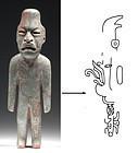 """Olmec True Jade Standing Figure 8 3/8"""""""
