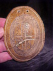 Bone Cross Gorget: Ex Davis Shown in Who's Who w/video