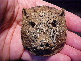 Bone Bear Carving Gorget Pendant C1000AD with video