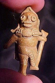Colima Miniature Warrior Ceramic Whistle