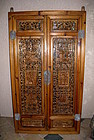 Exquisitely Carved Chinese Window Screens, Early Qing