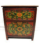Hand painted Tibetan Chest, 19th C.