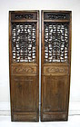 Pair of Antique Chinese Door Panels, Qing