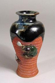 Small Sumida Gawa Vase with Boy