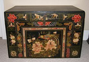 Colorful, Hand Painted Mongolian Trunk