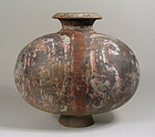 Large Han Dynasty Pottery Cocoon Jar