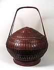 Large Chinese Bamboo Basket