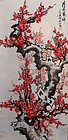 Chinese Scroll Painting, Plum Blossoms in Winter