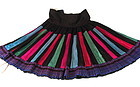Vintage Chinese Hill Tribe Pleated Festival Skirt