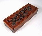 Chinese Huanghuali & Zitan Scholar�s Box, Early 19th C.