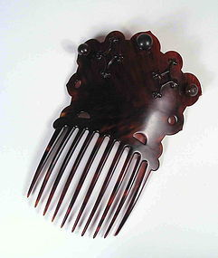 Chinese Export Tortoise Shell Comb, 19th C.