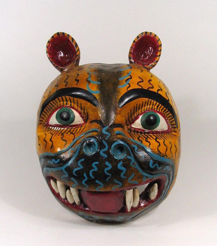 Mexican Folk Art Mask of Jaguar