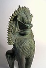 Magnificent Southeast Asian Bronze Guardian Lion, 16th/17th C.