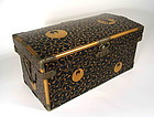 Japanese Lacquer Hiramaki-e Box with Mons, Meji