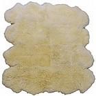 Large White Llama Fur Rug