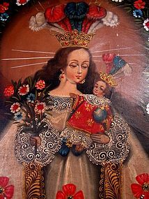 Cuzco School Painting, Our Lady of Pomata