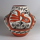 Large Acoma Olla with Parrots, Adrian Vallo