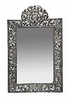 Antique Peruvian Silver Repousse Wall Mirror