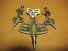 RARE SALVADOR TERAN HUMMINGBIRD PIN AND EARINGS