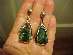 ARTHUR KING STYLE STERLING WIRE WRAPPED EARRINGS