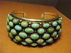 """CARMELLO """"PAT"""" PATANIA STERLING TURQUOISE CUFF"""