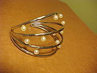 ROBERT LEE MORRIS STERLING PEARL CUFF