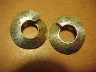 JANIYE JAPAN MODERNIST STERLING EARRINGS