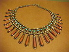 FRANK PATANIA SR. STERLING TURQUOISE CORAL NECKLACE