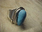 MODERNIST FRANCISCO REBAJES SILVER WIRE WRAPPED RING