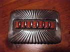 SANTO DOMINGO JULIAN LOVATO STERLING CORAL BELT BUCKLE