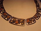 CARMEN BECKMANN MEXICO STERLING AND OPALS NECKLACE