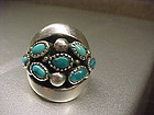 FRANK PATANIA SR. STERLING TURQUOISE RING