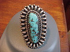 SANTO DOMINGO JULIAN LOVATO STERLING TURQUOISE RING