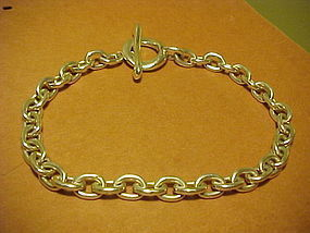 VINTAGE ROBERT LEE MORRIS LINK NECKLACE WITH LARGE TOGGLE