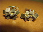 REY URBAN SWEDEN STERLING MODERNIST CUFF LINKS