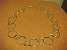 JOHN LEWIS BOSTON MODERNIST STERLING CIRCLES NECKLACE