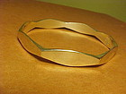 VINTAGE STERLING BANGLE BRACELET RAGNAR HANSEN NORWAY 1960