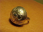 NAVAJO AUSTIN WILSON STERLING STAMPED RING