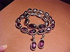 ANTONIO PINEDA AMETHYST NECKLACE,BRACELET,EARRINGS SET