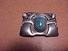 RARE CARENCE CRAFTERS ARTS&CRAFTS STERLING STONE PIN