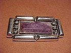 HUGE FRED DAVIS SILVER AMETHYST PIN