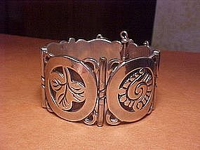 RARE HECTOR AGUILAR AZTEC FLOWERS CUFF