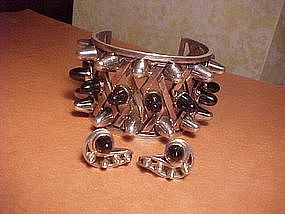 MAGNIFICENT ANTONIO PINEDA GLADIATOR CUFF AND EARRINGS