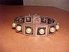 ANTONIO PINEDA STERLING AND PEARL BRACELET