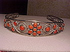 FRANK PATANIA SR. STERLING HAIR BAND WITH CORAL