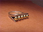 WILLIAM SPRATLING SILVER AND GOLD RING