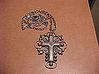 WILLIAM SPRATLING SILVER CROSS AND CHAIN